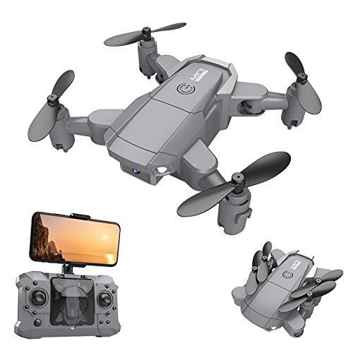 Mini-Drohne mit 4K HD-Kamera Live-Video, WiFi-Quadcopter mit 75 ° Weitwinkelkamera Faltbare Drohne, Höhenlage, Start / Landung mit Einer Taste, 3D-Flip, DREI-Geschwindigkeits-Schalter, APP-Steuerung