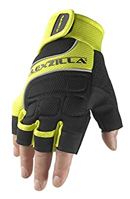 Flexzilla Men's Hi-Dexterity Fingerless Work Gloves