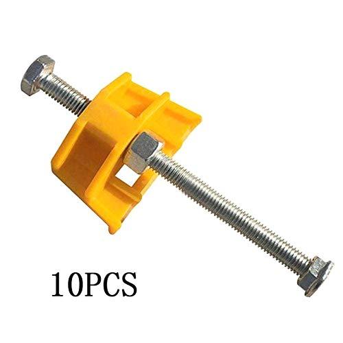 SALAKA 10Pcs Nivelador de Azulejos Amarillo Ajustador de Altura Localizador Sistema de nivelación de Azulejos
