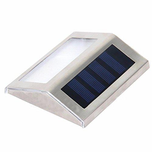 Accueil l'énergie solaire d'extérieur LED Lampe JARDIN CLÔTURE Wall Pathway Cour d'escalier ,lampe lumière blanc