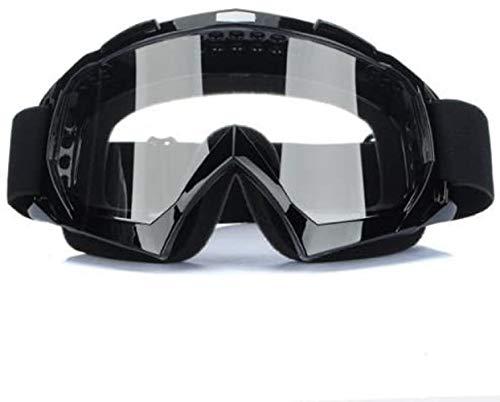 Binnan Gafas Protectoras Antifaz Ajustable para Motocross Moto Ciclismo, Negro
