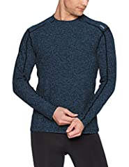 GET COMFORTABLE: Designed for maximum next to skin comfort, feel cozy and look sharp while working out or on the go in the cold. Clean contrast flatlock stitch design and tapered fit add refinement. BY ATHLETES, FOR ATHLETES: Optimal marriage of comf...