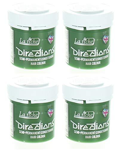 4 x La Riche Directions Semi-Perm Hair Colour Fluorescent Green 4x 88ml