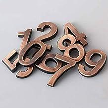 TRJGDCP 1 ST 0-9 Aantal Moderne Plaque Nummer Huis Hotel Deur Adres Cijfers Sticker Plaat Teken Huisnummers (Kleur: Goud, ...