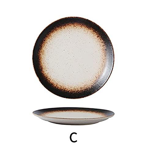 Vajilla Cuencos Platos Hondos plato Vajilla de cerámica Pizza snack bistec cena Vajilla de porcelana Bandeja de comida