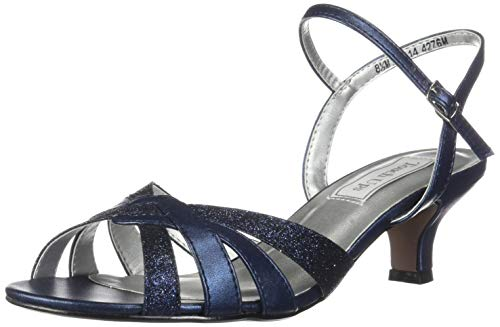 Touch Ups womens Jane pumps shoes, Navy Glitter, 7.5 Wide US