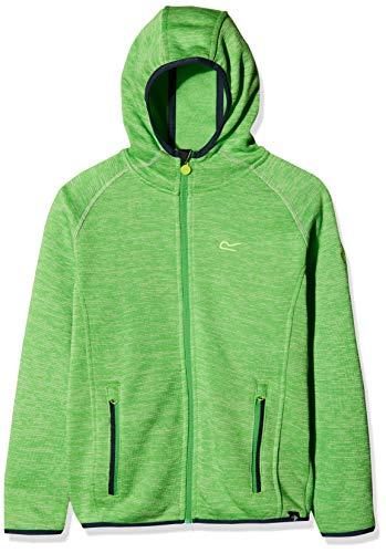 Regatta Dissolver Kinder-Fleecejacke mit Kapuze, Stretchmaterial, mit Reißverschluss auf der ganzen Länge L Grün - Fairway Green