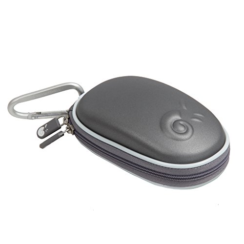 Hermitshell Hard EVA Storage Carrying Case Bag for Apple Magic Mouse (I and II 2nd Gen) and carabiner (Grey)