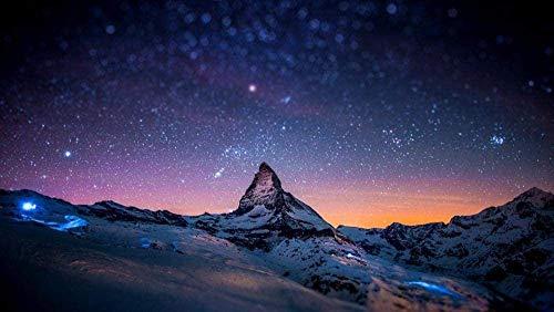 zhangkk Puzzle Jigsaw 1000 Pezzi per Gli Adulti Paesaggio Matterhorn Alpi Inverno Flowe Puzzle di Cartone, Temi Set di Puzzle per Famiglia per Adulti Cresciuti Bambini