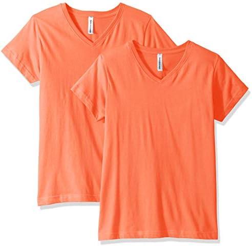 AquaGuard Womens Combed Ringspun V-Neck T-Shirt-2 Pack