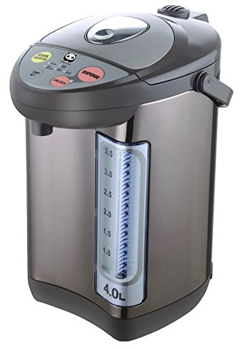 Panda Electric Hot Water Boiler and Warmer Hot Water Dispenser 304 Stainless Steel Interior 40 Liter Stainless Steel/Brown