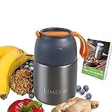 Limes 8 Thermobehälter Lunchbox 500ml Edelstahl Isolierbehälter Food Jar auslaufsicherer Thermo Speisebehälter Essen