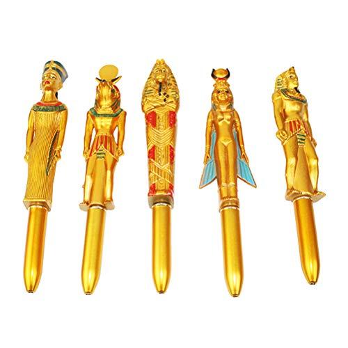 STOBOK 5 stücke Alten ägyptischen stift pharao skulptur stift kreative kugelschreiber (Zufällige Muster)