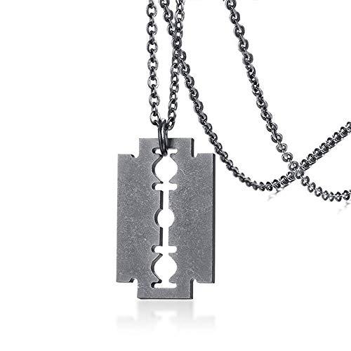 N / A Collar Gótico Collares De Tridente Geniales para Hombres Colgantes De Acero Inoxidable De Tinte Plateado Negro Dorado para Él Joyería Masculina De Hip Hop