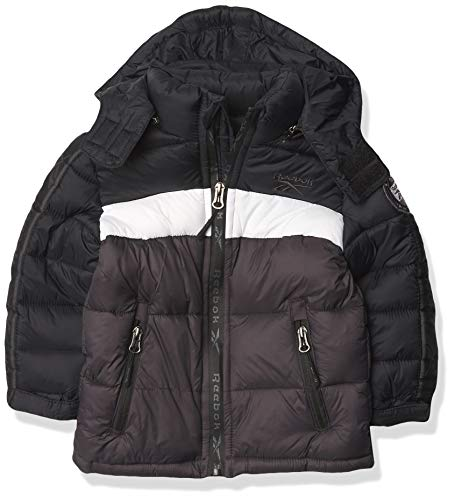 Reebok Boys 100% Poly Woven 600MM PU Coated WR Jacket Ropa de...