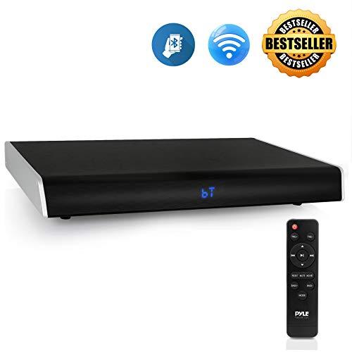 Surround Sound TV Sound Bar - Bluetooth Compatible Wireless Soundbar For TV w/ Built-in Subwoofer Speaker - Television Sound Bar System w/ LCD/Digital Optical Audio/RCA/AUX/USB - PyleHome PSBV820BT.5