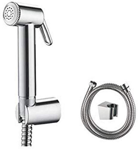 IBERGRIF M20282 WC handbrause Bidet Set mit Halter und Schlauch, Chrom, Silber