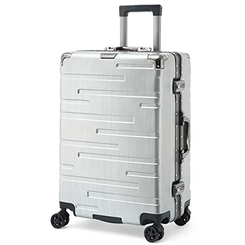 Laptop Case Trolley Bussiness Check-in Bagage | Medium koffer | 66 cm, 4 wielen, ABS+PC Lichtgewicht Harde Shell met TSA slot, Reistas (24inch,Pink)