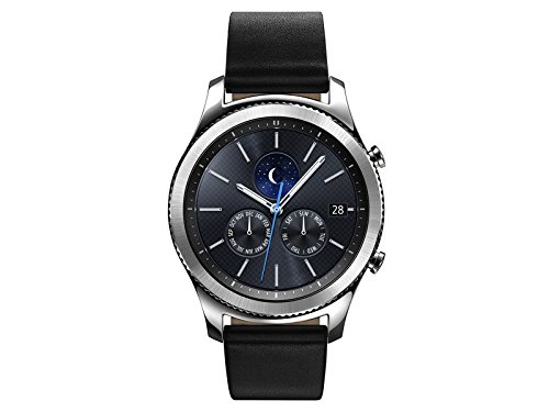 Samsung Watch - Gear S3 Classic LTE - Silver Black Leather Band - AT&T