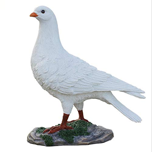 DDXW Statues And Figurines Ornaments Resin Pigeon Sculpture Home Decoration Animal Statue Outdoor Garden Wedding Decoration Statue Peace Pigeon-1_As_Shown