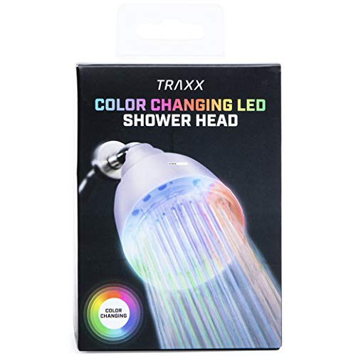 color-changing LED light shower head