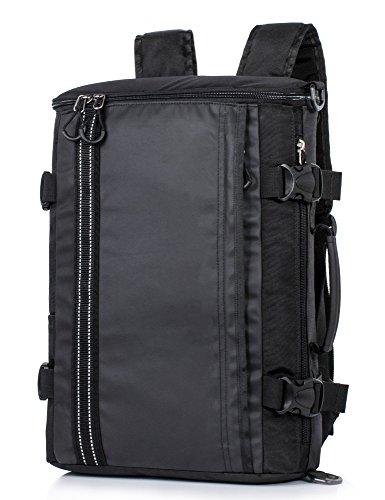 Leaper strapazierfähiger, wasserabweisender Sport-Rucksack, Reise-Wanderrucksack, Multifunktions-Camping-Tasche (groß, schwarz2)
