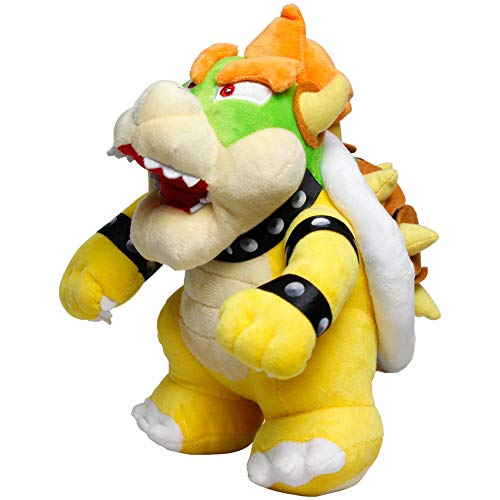 EQUASIS Bowser Plush, Bowser Toys, Super Mario Plush, All Star Collection, Stuffed Animals, Plush Toys 10 in, Yellow