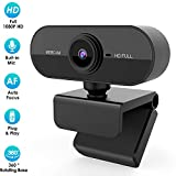 Webcam con Microfono, 1080P HD Webcam Streaming Videocamera Web per Computer - Videocamera USB per PC Videochiamata Desktop per PC Portatile