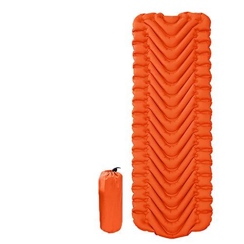 Camping Sleeping Pad? Ultralight Backpacking Air Mattress w/Compact Carrying Bag ?Sleeping Mat for Hiking Traveling (Orange,190605cm)