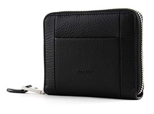 Picard, Damen Portemonnaie, aus genarbtem Leder, in der Farbe Schwarz, aus der Serie Pure 1, 963887I001