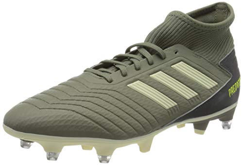 adidas Mens Predator 19.3 SG Football Shoe, Legacy Green/Sand/Solar Yellow, 43 1/3 EU