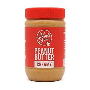 MapleFarm - Mantequilla de cacahuete 100% pura - CREAMY - 500g - 100% Pure peanut butter - Crema proteica. Crema proteica sin azúcares añadidos. Sin aceite de palma.