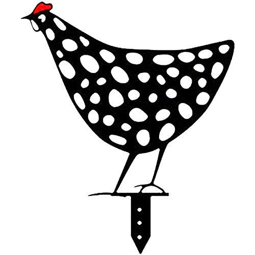 lingyagaofeng Neue Metalltiere Art Yard Decor Outdoor - 2021 Hühnerförmige Gartenkunst, Rooster Metal Animal Silhouette Pfahlhof, Outdoor Silhouette Dekoration, mit schöne Bedeutung (D)