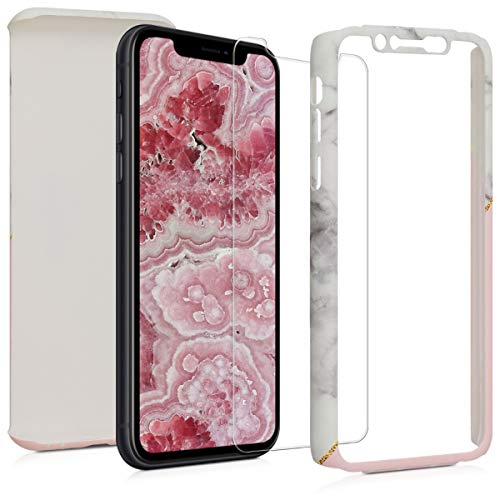 kwmobile Funda Compatible con Apple iPhone XR - Carcasa Protectora con Cristal...