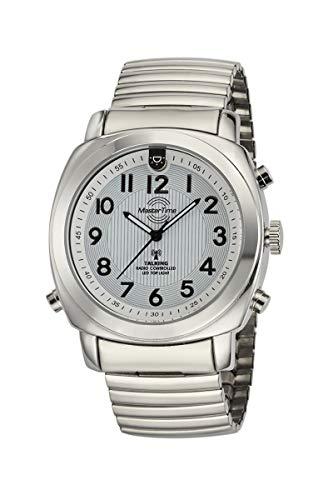 Master Time Funk Quarz Sprechende Herren Uhr Analog mit Edelstahl Armband MTGA-10633-11M