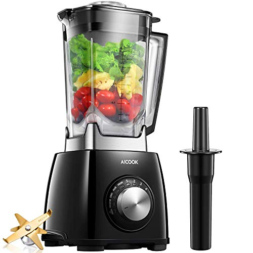 Smoothie Blender Aicook 1450W Professional Blender with 72oz Jar, Auto-Clean Countertop Blender for Ice, Smoothies, Frozen Drinks and Grind, 4 Programs, Variable Speed, Home and Restaurant Using