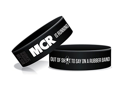 Official MY CHEMICAL ROMANCE Silicone Wristband LOGO Black Gift