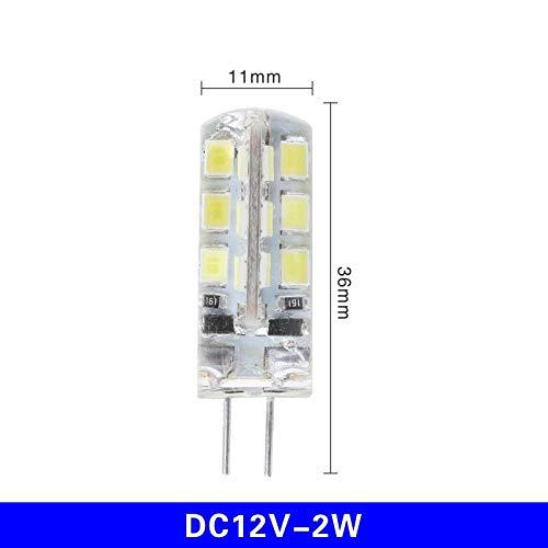 Milieuvriendelijke halogeenlampen 10 stuks/Los G4 LED-lamp Ac DC 12 V 220 V 1 W 2 W 3 W 4 W 5 W halogeenlamplicht vervangen 360 graden koplamp kroonluchter verlichting -2W_Dc12V_Cold_Whit