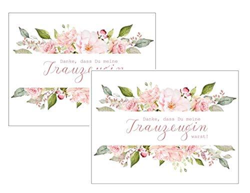 Paquete doble de tarjetas – Gracias por ser mi dama de honor – Rosas idea de regalo para boda, agradecimiento hermana mejor amiga Maid of Honor