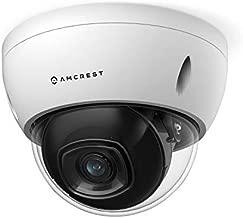 Amcrest UltraHD 4K (8MP) AI Outdoor Security POE IP Camera, 3840x2160, 4K @30fps, 2.8mm Lens, IP67 Weatherproof, IK10 Vandal Resistant Dome, MicroSD Recording, White (IP8M-2693EW-AI)
