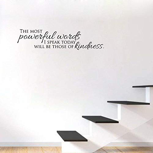 Wall Stickers for Living Room Bedroom Home Decoration Wall Decor Art Decals Wallpaper The Most Powerful Words I Speak Today Quotes PVC 86x20.2cm