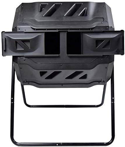 Best Prices! Allkpoper Tumbling Compost Bin Large Compost Tumbler Bin Composting Tumbler Outdoor Garden Compost Bin -Dual Compartment Easy Turn/Enough Height/Heavy Duty Capacity Composter