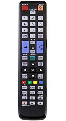 Allimity Ersatz-Fernbedienung AA59-00431A passend für Samsung LCD LED 3D TV PS51D8000FM PS59D8000FM UA46D7000LM UA55D7000LM PS51D8000FMXRD PS64D8000FM UA55D8000YM PS59D8000FMXRD PS51D8000FMXXY