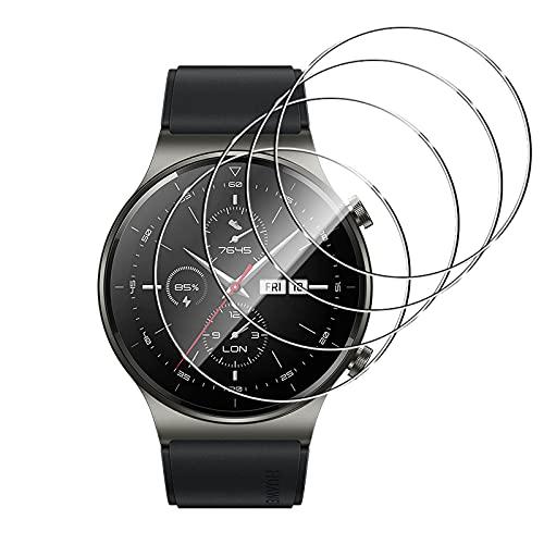 GEEMEE für Huawei Watch GT2 Pro Panzerglas Schutzfolie, 4 Pack 9H Härte Easy Installation, Premium Bruchsicher Gehärtetes Glas Schutzfolie für Watch GT 2 Pro