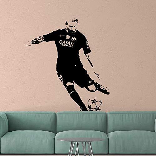 Mejor jugador de fútbol argentino Striker Rio Messi pegatina de pared vinilo decoración de habitación de fútbol pegatina de pared