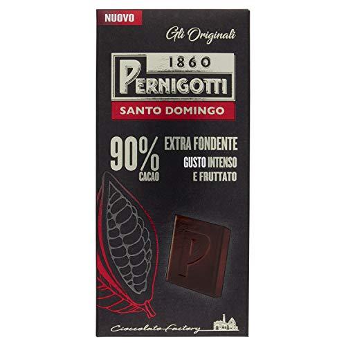 Pernigotti, Tavoletta Santo Domingo, Cioccolato Monorigine Extra-Fondente 90%, Gusto Intenso e Fruttato, Senza Glutine e Olio di Palma, 90 g