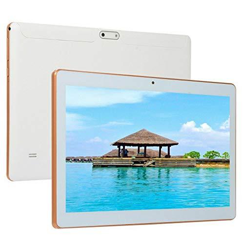 Tablet da 10,1 pollici Android 7.0, processore Quad Core, 1.5 GHz, 64 GB di archiviazione, 4 GB di RAM, doppia fotocamera, WiFi, GPS, Bluetooth 4.0,1920 x1200 IPS Ultra Slim (Bianco)