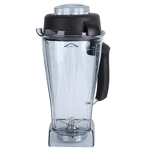 Nivvity Vaso para licuadora, 64 oz, Transparente, Recipiente para licuadora, Tapa, Tapa, Juego de Accesorios de Repuesto para licuadoras Vitamix