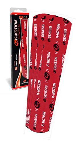 K-Motion Kinesiologie Tape mit Kupfer Infuzion Pre Cut 20 Stück a 5,08cm X 25,4cm (Rot)