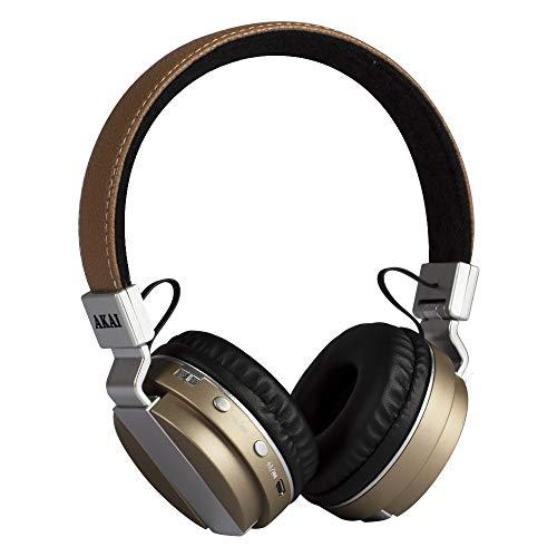 Akai BTH08 Ohraufliegend Kopfband Beige - Kopfhörer (Ohraufliegend, Kopfband, Kabellos, Bluetooth, Beige)